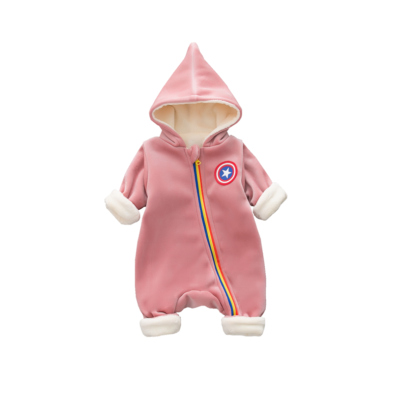 2018  Infant Romper Baby  Jumpsuit Newborn Bebe Clothing Hooded Toddler Baby Clothes Cute Rainbow Spring Romper