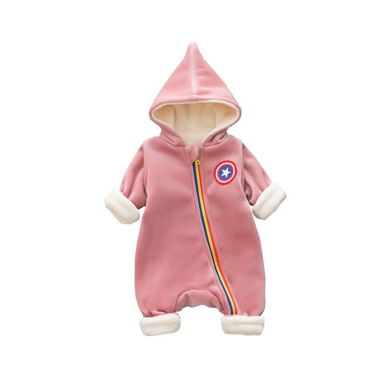 2018 bébé barboteuse bébé combinaison nouveau-né Bebe vêtements à capuche enfant en bas âge bébé vêtements mignon arc-en-ciel printemps barboteuse