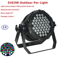 Aluminum Cast Par Lights High Quality 54X3W RGBW 4 Colors LED Stage Par Cans For Party