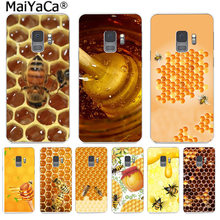 MaiYaCa Golden honeycomb honey bee Retro Colorful Phone Cases for Samsung S9 S9 plus S5 S6 S6edge S6plus S7 S7edge S8 S8plus(China)