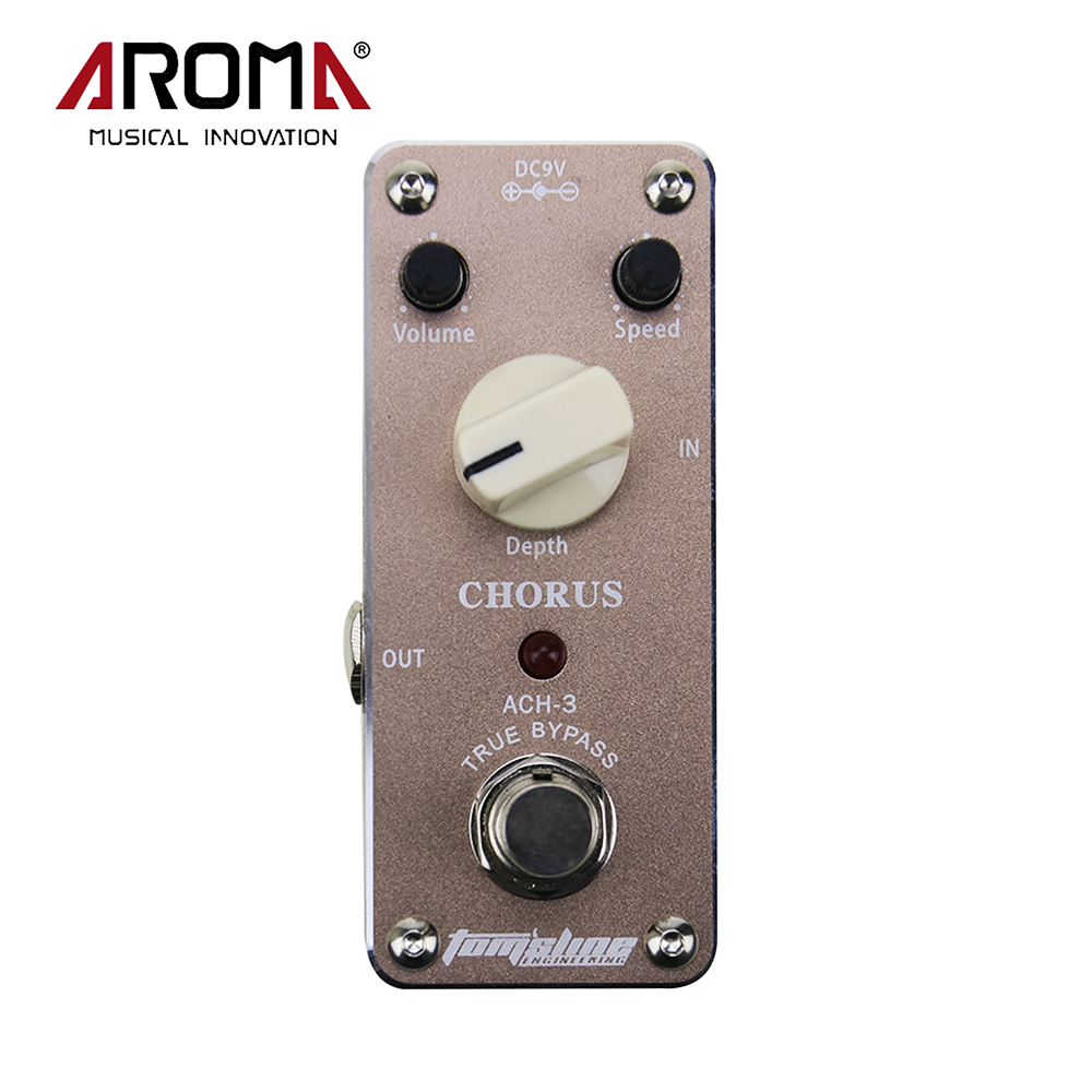 Aroma ACH-3 Mini Chorus Electric Guitar Effect Pedal Aluminum Alloy Housing True Bypass aroma tom sline abr 3 mini booster electric guitar effect pedal with aluminum alloy housing true bypass durable guitar parts