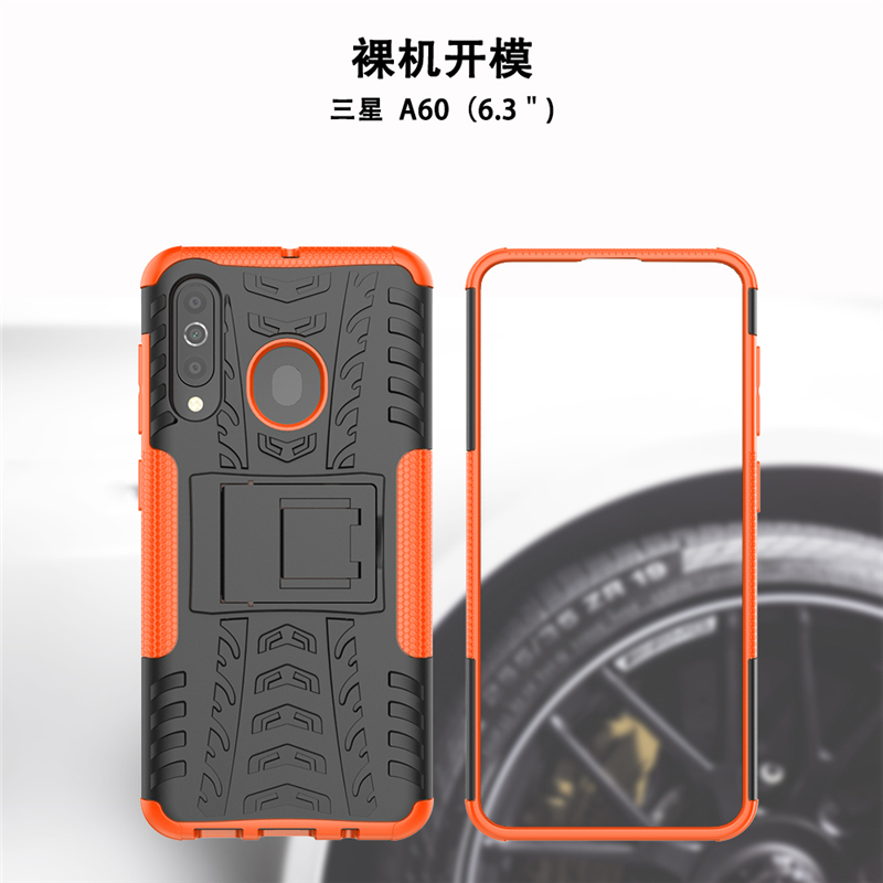 Image 3 - For Cover Samsung Galaxy A60 Case Heavy Duty Hard Rubber Silicone Phone Case For Samsung Galaxy A60 Cover for Samsung A60 Case-in Fitted Cases from Cellphones & Telecommunications