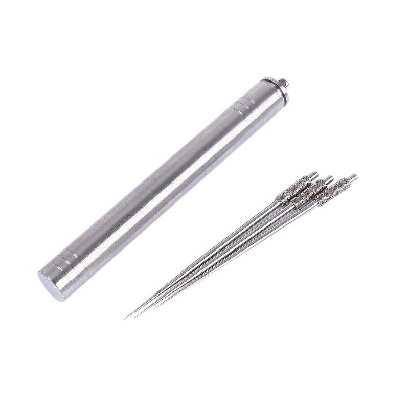 Portable Non-toxic Reusable Titanium Toothpick with Holder Case Box Travel Tool