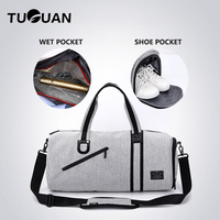 Mens Sports Bags Multifunction Travel Women Packing Cubes Weekend Luggage Organizer Bag Male Waterproof Short Trip Overnight Bag