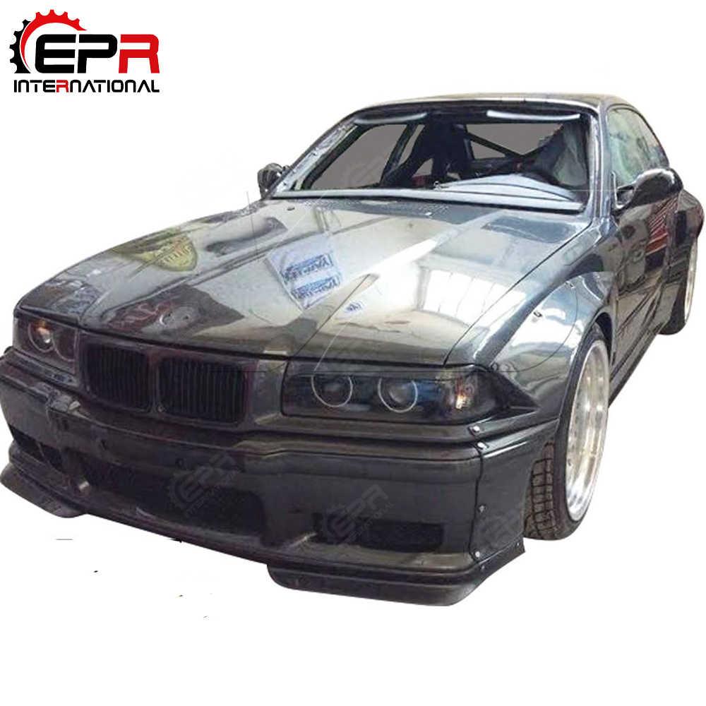 For BMW E36 RB Kit Tuning FRP Fiber Glass Full Wide Body Kit