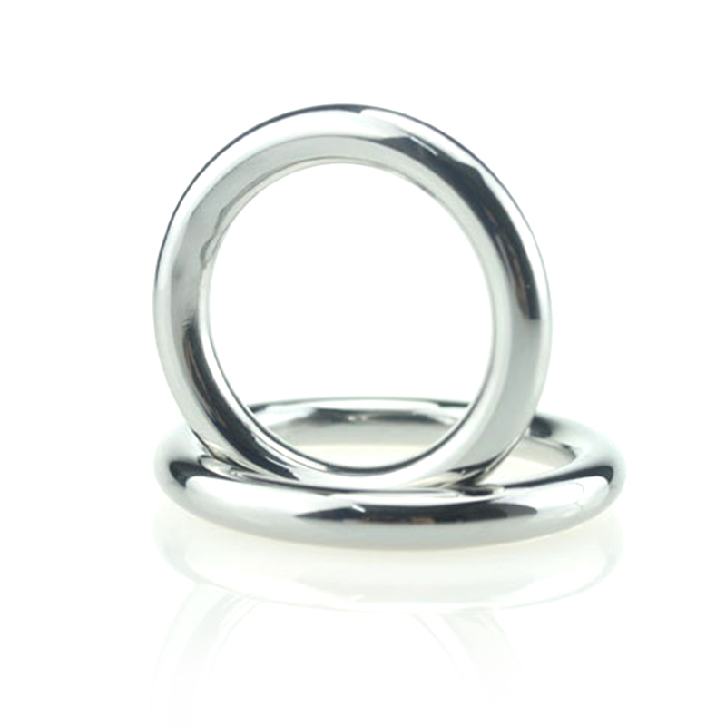 Male Metal Cock Ring Stainless Steel Penis Delay Ring Anillo Pene Sexual Pleasure Products Inner Diameter 40Mm 50Mm Optional