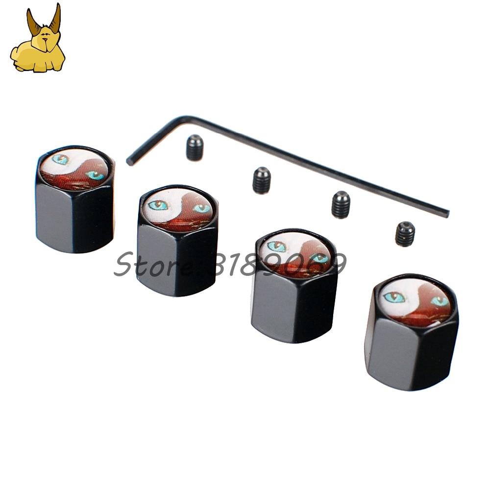 For Cats eye logo opel insignia Vw golf caddy mitsubishi asx Universal 4pcs Wheel Tire Valves Tyre Stem Air Caps Airtight Cover