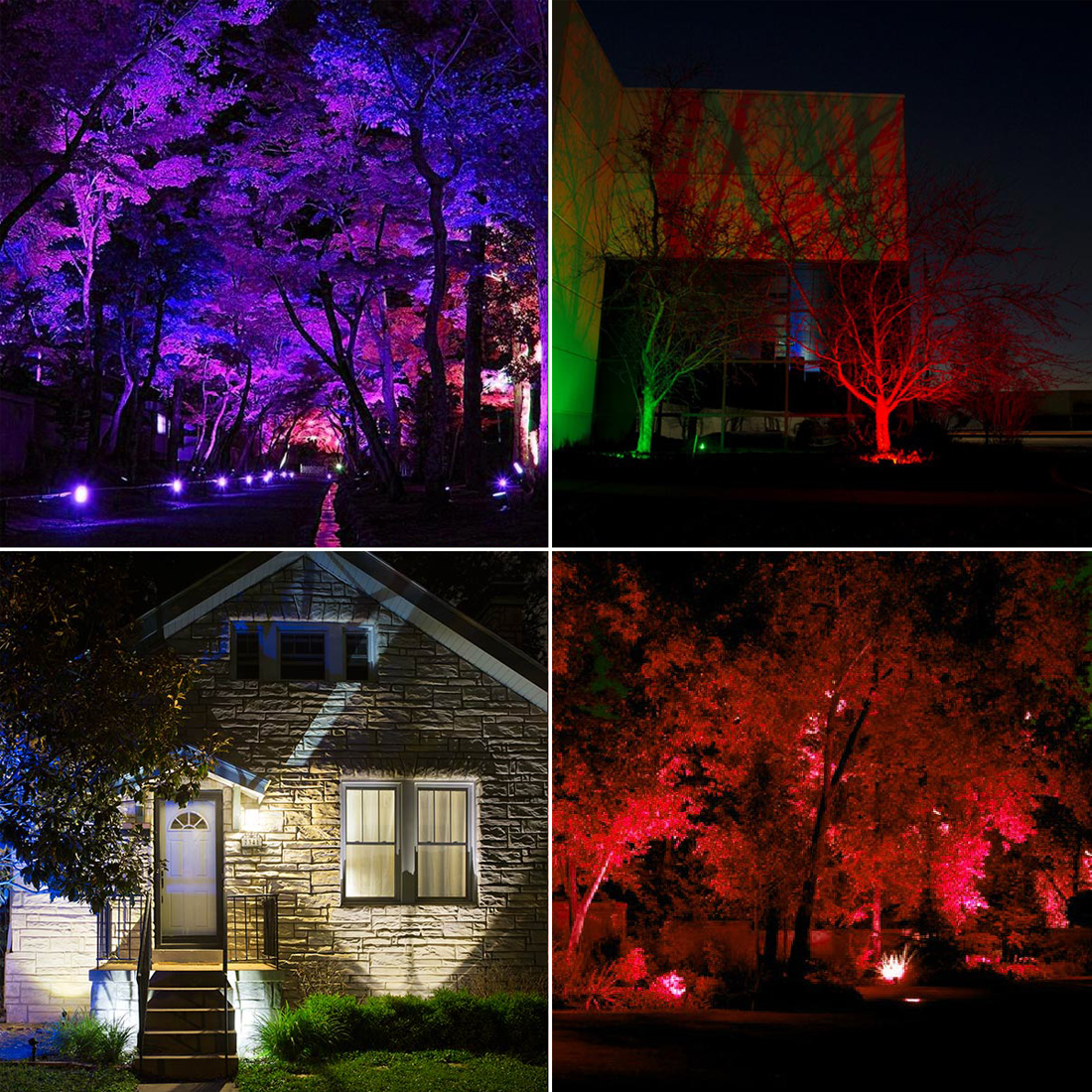 Smart Floodlight LED Outdoor Light RGB 15W Bluetooth4 0 360 APP Group Control IP66 Garden Waterproof Color Changing Spotlight in Floodlights from Lights Lighting