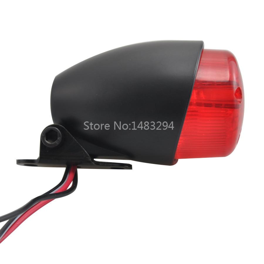 Schwarz LED Rücklicht Bremslicht Für Harley Bobber Cruiser Chopper Cafe Racer Honda Yamaha Suzuki Universal Motorrad Teile