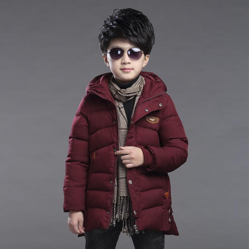 Big Boys Long Winter Cotton Padded Coat Jacket 2017 Childrens Boys CoatBig Boys Long Winter Cotton Padded Coat Jacket 2017 Childrens Boys Coat