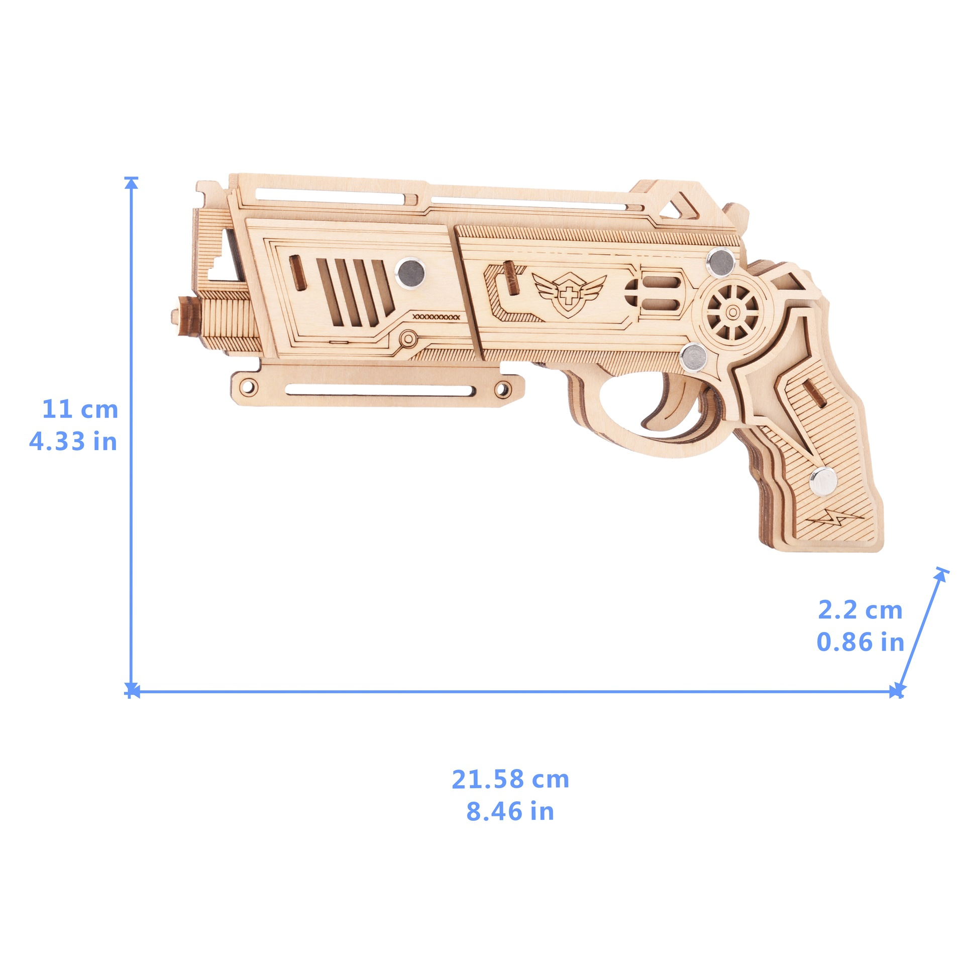 Image 4 - Laser Cutting DIY 3D Wooden Puzzle Woodcraft Assembly Kit Hunting wolf Eagle Train Dragon Rubber Band Gun For Christmas GiftPuzzles   -