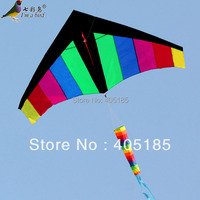 Free Shipping Outdoor fun sports Weifang Kite black side (head) Rainbow Triangle design atmosphere Factory Outlet flying