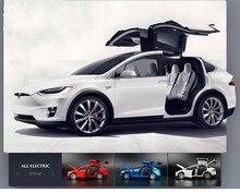 1:32 брелок для автомобильных ключей, модель Tesla модель X90 металлические Литые игрушечные машинки автомобиль с оттяжкой назад сверкающий музыкальный подарок для детей Обучающие гоночные машинки