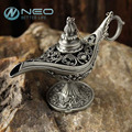 """Neo 12 cm (4.7 """") clássico rare oco lenda aladdin mágica dos génios óleo queimadores de incenso retro desejando lâmpadas lâmpada decoração da casa de presente"""