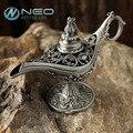 """Neo 12 cm (4.7 """") classic rare hollow leyenda mágica de los genios de aladdin quemadores de incienso lámparas retro deseando aceite lámpara de la decoración del hogar regalo"""