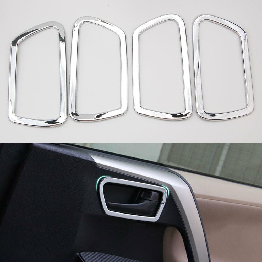 4PCS ABS Matte Interior Chrome Door handle Cover Trim For Toyota RAV4 2016-2018