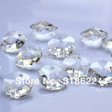 Beads,14mm Cut&Faceted 2 White