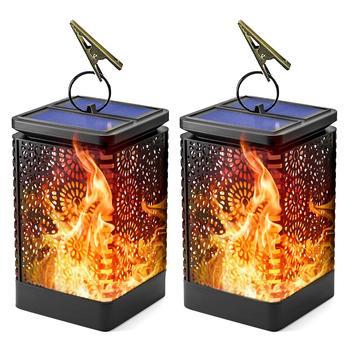 Firya, ретро, уличный, водонепроницаемый, с солнечным пламенем, ночные огни, фонарь, светодиодный, подвесной светильник для наружного декора са...