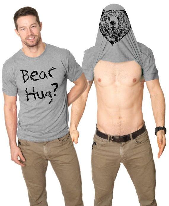 New Printed Men's T-shirt Summer Fashion Creative English Double-sided Animal Head Men's Short Sleeved T-shirt