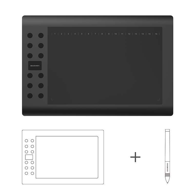 GAOMON Graphics font b Tablet b font M106K USB Digital PenTablet 10 x 6 Inches with