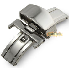16/18/20mm Stainless Steel Butterfly Deployment Clasp Buckle Watch Strap Bands