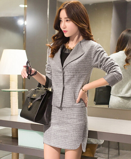 Women-Business-Suits-Formal-Office-Suits-Work-2015-Autumn-New-Blazer-Skirts-Two-Siuts-High-Quality (3)