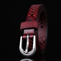 2018 NEW fashion women real leathe belts cow genuine leather good quality alloy pin buckle fashion style design Y15