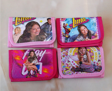 все цены на 12Pcs/lot Soy Luna Jersey Girl The First Coin Pouch Small Wallet For Baby Girl Money Bag Party Supplies Birthday Gift