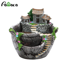 Succulent Cactus Planter Flower Pot Holders Garden Design Bonsai Pots Resin Flowerpot Plants Pot for Desktop Decoration Gift