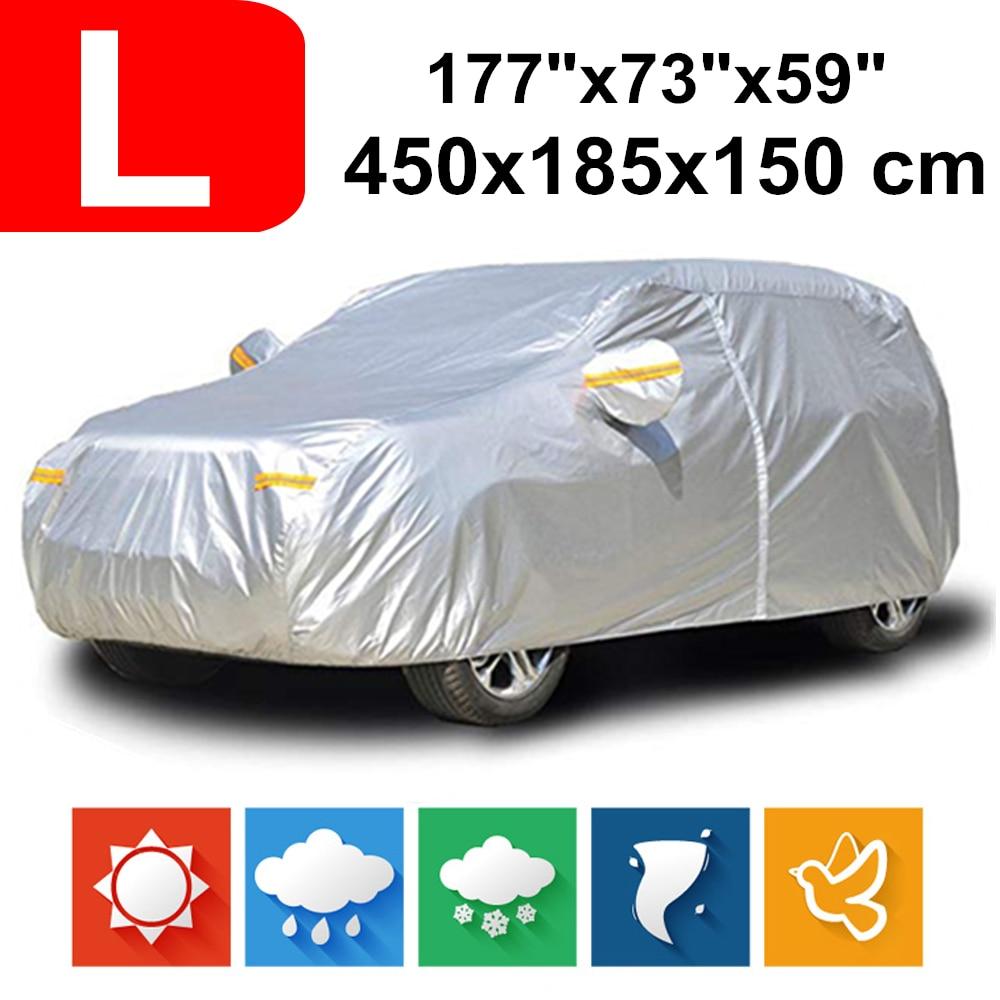 450x185x150 hayon 190 T imperméable bâches de voiture poussière pluie neige Protection UV pour citroën DS4 Ford Fiesta Focus hayon Kia K3