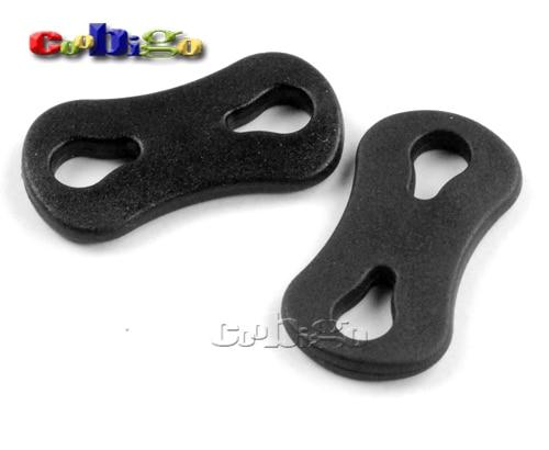 "100pcs Pack 1/4""(5mm) Plastic Black Flat Soft Sliding Cord"