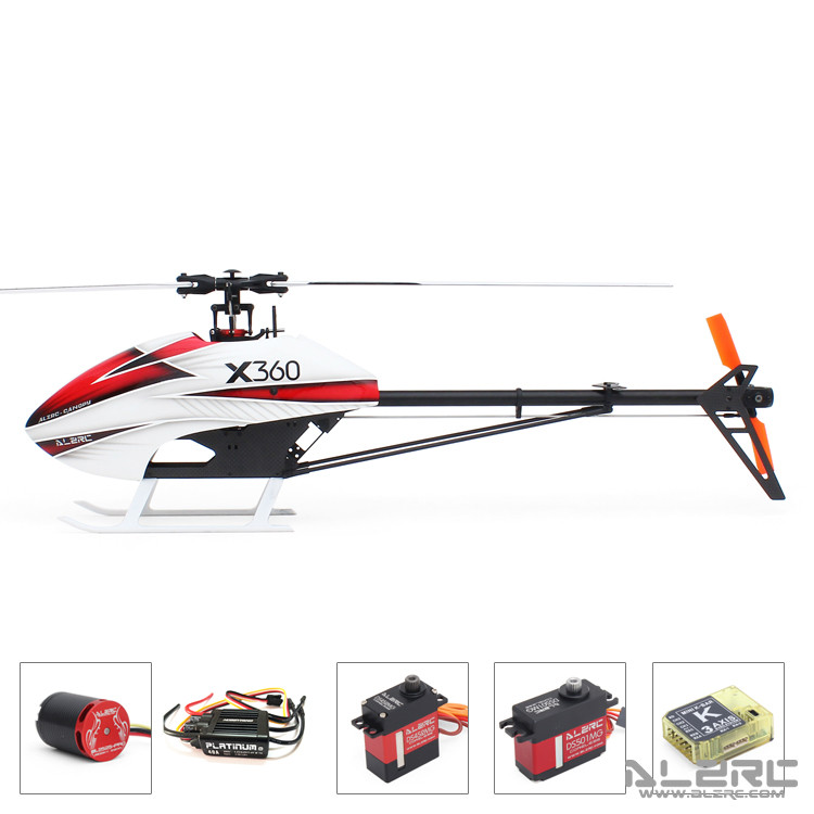 In Stock 2018 The Newest ALZRC-X360 FAST FBL KIT Helicopter (Motor +ESC+Servos+Gyro) for GAUI X3 alzrc devil x360 metal radius arm set red x360 helicopter parts fit gaui x3 dx360 09ma