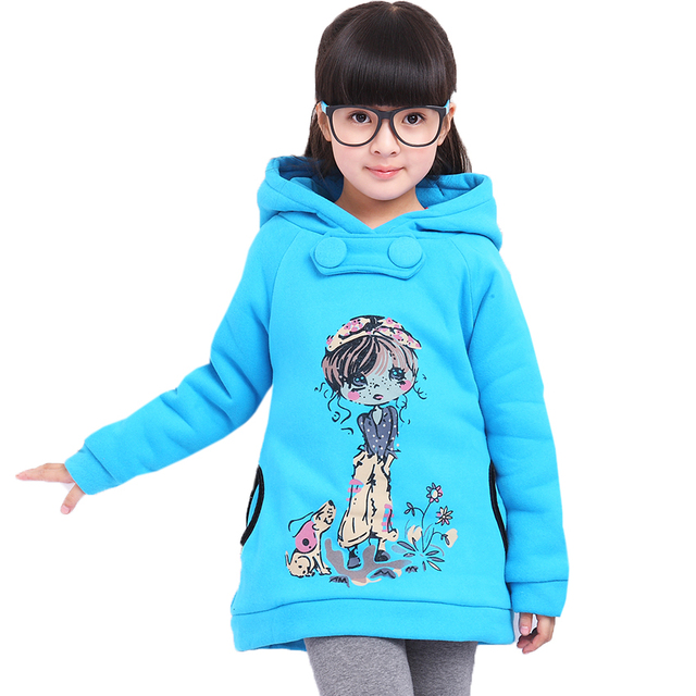 Hoodie for Girls Cartoon Pullovers Kid Outerwear Children Coats Girl Reversible Tops Vestido Moleton Infantil Sweatshirt 3 4 5 6