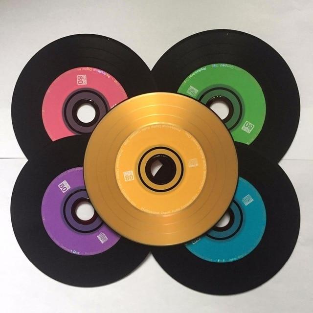 Atacado 10 discos premium profissional multicolorido grau a 700 mb 52x em branco preto impresso CD-R disco