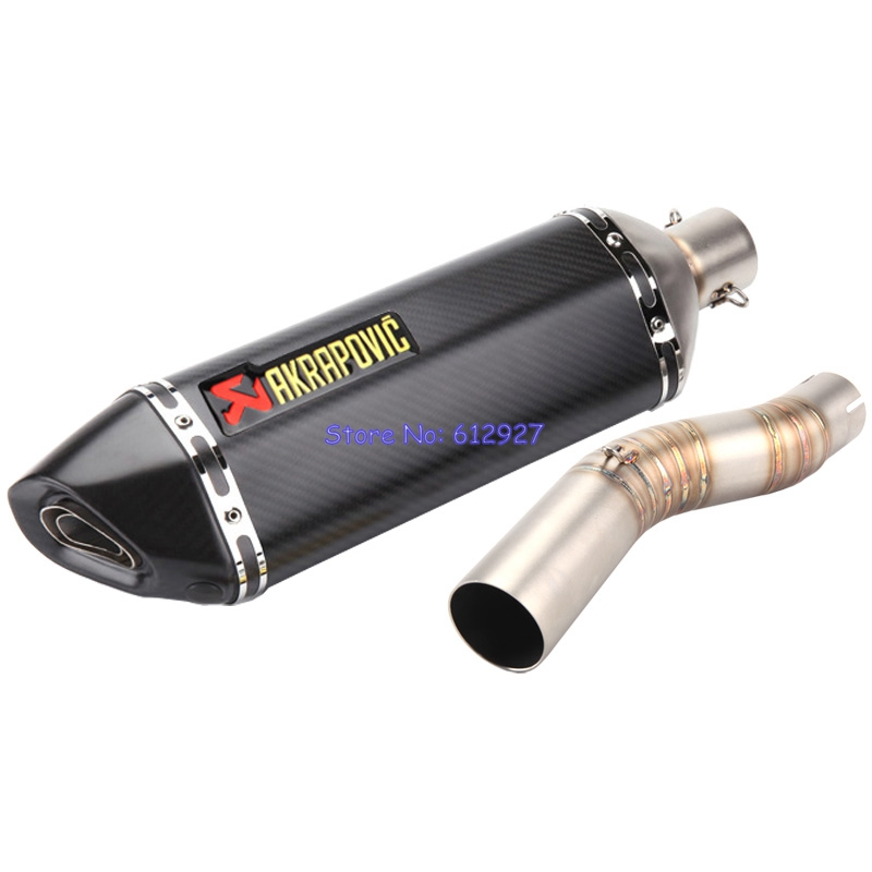 Motorcycle for Suzuki GSXR1000 (2003-2006) Exhaust System Connect Mid Link Pipe with Akrapovic Muffler Pipe Escape Slip On Leak