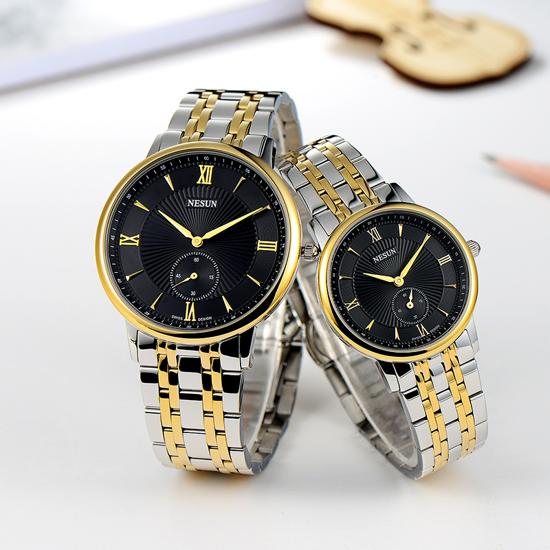 Nesun Switzerland Luxury Brand Watch Men Japan MIYOTA Quartz Movement Lover's Watches full Stainless Steel Women clock N8501-SL4 nesun switzerland luxury brand watch men japan miyota quartz movement lover s watches full stainless steel women clock n8501 sl3