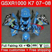 Комбинезоны для SUZUKI GSXR 1000 K7 GSX R1000 07 08 rizla Blue кузов 38SH9 GSXR1000 07 08 GSX R1000 GSXR 1000 2007 2008 Обтекатели