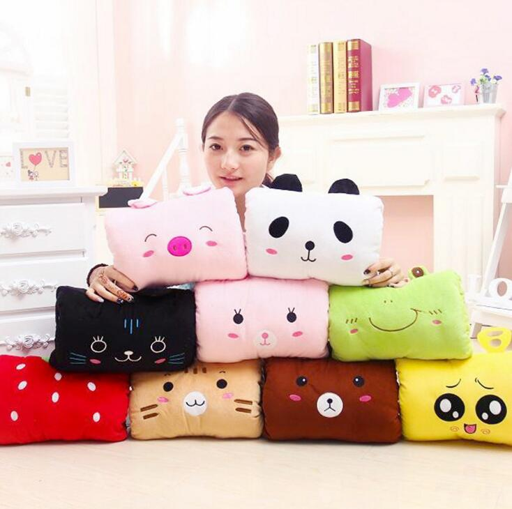 SST* Winter Cute Cartoon Plush Toys Hand Warmer Animals Soft Hand Hold Warm Cotton Cushion Pillow Birthday Gift High quality