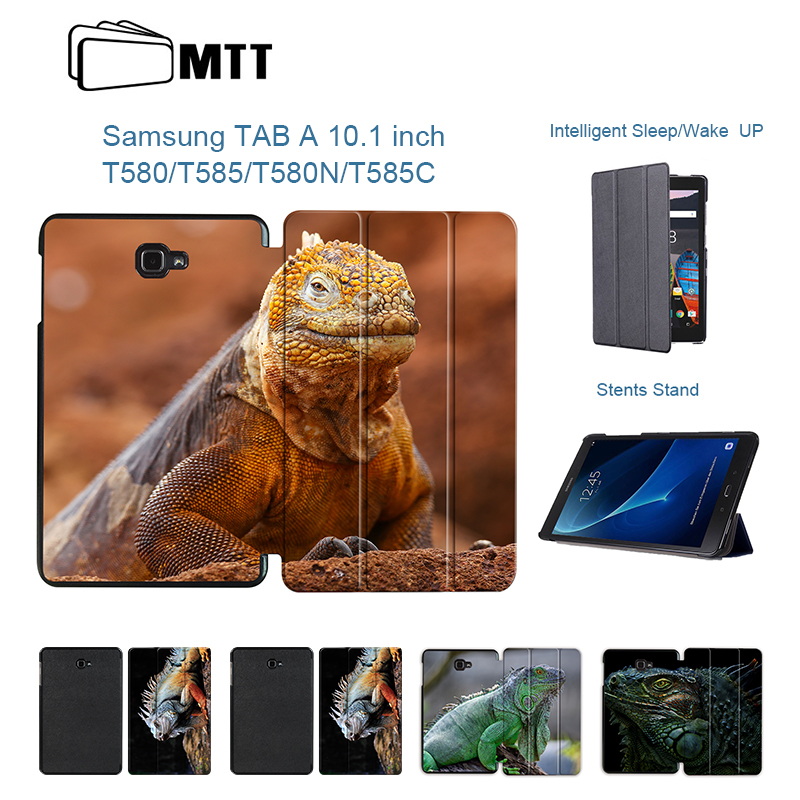 MTT High quality PU Leather Case Chameleon Cover for Samsung Galaxy Tab A6 10.1 2016 T585 T580 SM-T580 T580N Smart Stand Case