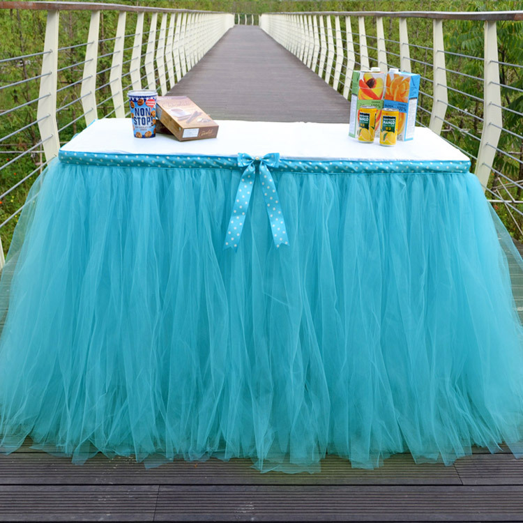 1 Pcs Table Skirt Wedding Table Decoration Fashion Table Cloth Hotel Home Banquet Party Table Decoration
