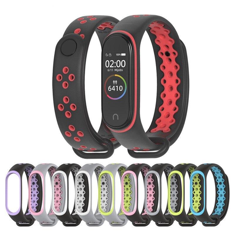 Sport Mi Band 4 3 Strap Wrist Bracelet For Xiaomi Mi Band 4 Sport Silicone Strap For Xiaomi Mi Band 3 Band4 Smart Watch Bracelet