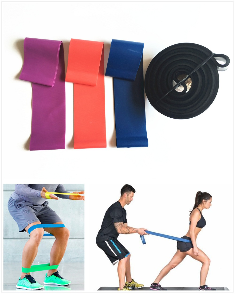 Resistance Band Set Latex Gym Strength Training Rubber