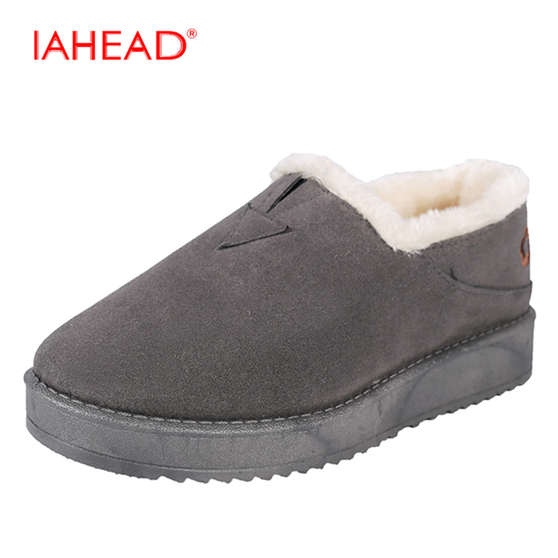 IAHEAD Hot Sale Shoes Women Boot Solid Slip-On Soft Cute Women Snow Boots Round Toe Flat With Winter Fur Ankle Boots UPC387 2017 new arrival hot sale women boots solid bowtie slip on soft cute women snow boots round toe flat with winter shoes wsz31