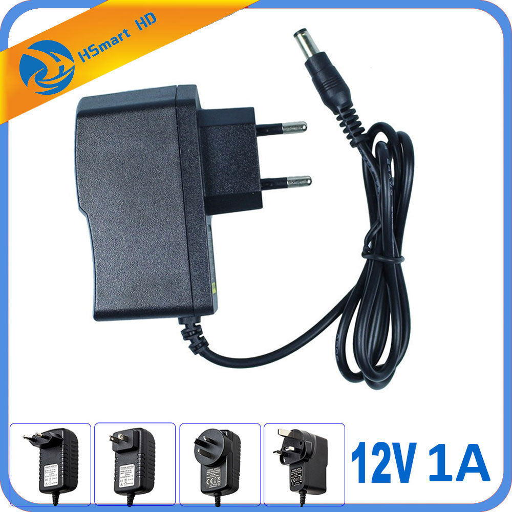 AC100V-240V 50/60HZ DC 12V 1A EU/US/UK/AU Plug AC/DC Power Adapter Wall Charger for IR LED/ CCTV Camera system (2.1mm * 5.5mm) 100pcs us eu uk au plug ac line 1 5m dc line 1 2m ac100 240v to dc 24v 1a 24w power adapter 24v1a ac adapter