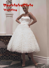 tulle trajes de novia sweetheart Bridal Gown Tea Length Backless Wedding Dresses 2016 cheap clothes china