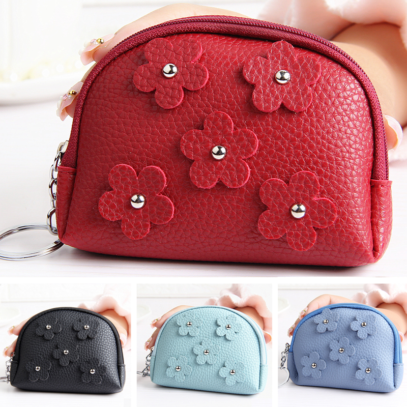 Flower Coin Purse Short Women Zipper Pouch Wallets Lady Change Purses Woman Zero Pocket Cards Keys Money Bag Girls Mini Wallet стоимость