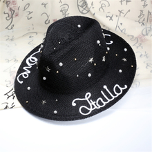 2016 wholesale fashion fedora caps for summer dress , personalized design on hat for men and women ,beautiful beach hat