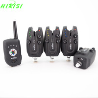 Hirisi Carp Fishing Wireless Fishing Bite Alarm Set With On Off Switch Magnet Stick Receiver 1