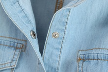 Crop Top Plus Size Short Denim Shirts