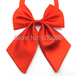 Hooyi F A S H I O N Store HOOYI 2017 solid red women's necktie bow tie butterfly 12 colors